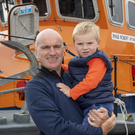 Verners and Jack Tess from Tralee pictured enjoying the Fenit RNLI Open Day at the lifeboat station on Sunday morning