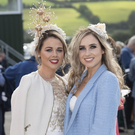 Looking stunning at Ladies' Day were Linda Blake and Katie Buckley from Ballybunion. Photos by Domnick Walsh