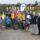 Pictured at the launch of events for European Mobility Week which is taking place this week were Mayor of Tralee Jim Finucane , Cllr Pa Daly, Jean Foley KCC , Cora Carrig KCC and other members for Sports Groups from around Tralee and Kerry. Photo by Domnick Walsh