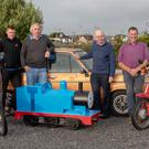 Launching the Blennerville Windmill Threshing which will take place this Sunday were Karen Walsh,Tadhg Kerins, Michael Curran, Sean Kerins, Denis Murphy, Michael O'Connor, John Kerins, Tim Daly and Donal Coppinger. Photo by Joe Hanley.