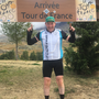Enable Ireland fundraiser, Tommy Sheehy pictured at the summit of Alpe d'Huez during his recent 'Tour de France' trail cycle