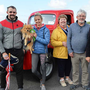 Taken at the antique cars at Blennerville Harvest Fair on Sunday, from left Seamie and Lauren O'Shea, Ann Walsh, Blennerville, Michael Hackett, Killarney, Danny Healy-Rae TD, Paudie Moore, Camp, and Karan Walsh, Tralee. Photos by John Cleary