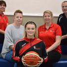 Members of St. Mary's Basketball club who will host 'Hoops 4 Hospice' on Saturday. The event is set to raise funds for the Kerry Hospice Foundation. Included are: Liz Galwey, Jennifer Ahern, Labhaoise Walmsley and Maurice Casey