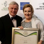 George and Margaret Browne from John Mike's bar in Abbeyfeale after their bar won the 'Best Community Pub' award at the Irish Hospitality Global Awards at the Mansion House in Dublin