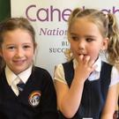 Junior Infant pupils from Caherleaheen NS were kept busy last week as they answered questions their experience of school so far