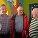 Noel Flannery and Gerry Curran with Dan Graham (centre) who delivered a lecture at the Dingle Maritime Festival about the history of nobby fishing boats in Dingle. Photo by Declan Malone