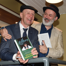 Deputy Michael Healy Rae with Tommy Tiernan who launched his book 'A Listening Ear' at The Gleneagle Hotel Killarney on Thursday. Photo: Michelle Cooper Galvin