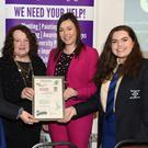 Chairperson Killarney Looking Good Yvonne Quill (second from left) presenting the Best School Project prize to Eileen Keane, teacher Sheree Murphy and Elaine Parker of St Brigid's. Photo by Michelle Cooper Galvin