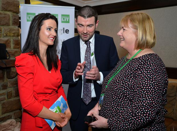 Junior Minister Brendan Griffin with Skellig Hotel Sales and Marketing Manager Miriam Ferriter (left) and Dingle Literary Festival founder Sheila O'Reilly at the festival launch in the Skellig Hotel on Friday night. Photo by Declan Malone