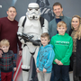 Sinead, Jack and Harry Maguire with Oisín, PJ and Mary O'Gorman pictured with the Kingdom Trooper Keith McGlynn at the fundraiser for the Cian Lenihan Leukaemia Fund. Photo by Joe Hanley