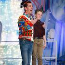 12-year-old Denis Moroney from Killorglin with Toy Show host Ryan Tubridy on Friday night after Denis' amazing performance of the song 'Grace'