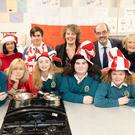 Launching the Mercy Mounthawk 'A Polish Christmas' cookery demonstration which will take place tomorrow night, Thursday December 5 were students Peter Fitzgerald, Joshua Cunningham, Wanesa Sas, Rachel O'Carroll, Erica Moriarty and Alannah O'Connor with Principal John O'Rourke and Kirsie Nowak Kathleen Holmes, Elaine Clancy of the Parents Council and Chef Katantna Sas