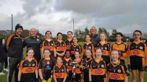 Austin Stacks U12's Ladies A Team and mentors after the Tralee Town League Division 1 Cup Final against Churchill Ladies on Tuesday night last in The Spa. Final score was Austin Stacks 2-7 to Churchill 1-5.