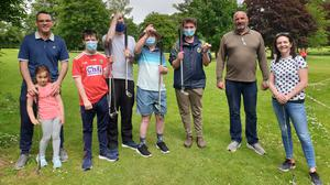 Thomas O'Connor, Clodagh O'Connor, Sean White, Michael O'Connor, Tom Lane, Sonny Kearney, coach Dean Harris and Jennifer O'Connell at the recent outing to Listowel Pitch and Putt Club