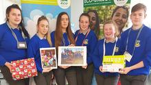 Members of the Global Gang who were runners up at the National Eco Unesco Awards this year. Included are: Julianne Murphy, Katelyn Brennan, Gemma Burke, Siobhán O Donoghue, AnnMarie Callaghan and Kyle O Connor