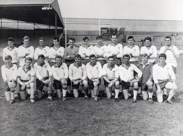 The Clanna Gael team, winners of the 1968 Dublin Senior Football Championship. Valentia's Pat O'Connell is seventh from the left in the back row. In the front row Thady O'Donoghue of Firies is first on the left, James McGill of Ardcost is fourth from the left and sixth from left is Mossie O'Discoll of Valentia. Seventh is former Dublin footballer and manager Mickey Whelan and eighth from left is Mick Byrne, former Irish International soccer physio.