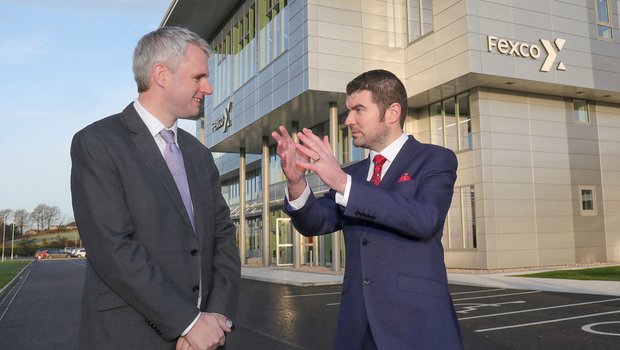 Fexco CEO Denis McCarthy with Minister of State Brendan Griffin who officially opened the new centre. Photos by Valerie O'Sullivan