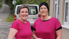Miriam Brosnan and Antoinette O'Keeffe after completing the 10k run in aid of Breast Cancer Ireland recently