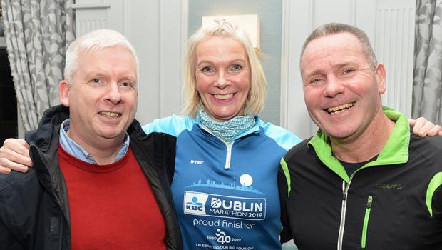 Martin Moore (Tralee). Maggie Large (Listowel) and Willie Guiney (Listowel) pictured at the Rose Hotel on Friday evening for the fundraising 5k walk. All photos by John Cleary