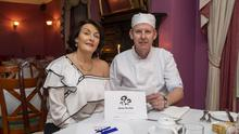 Joan O'Connor of Kilcooly's with secret chef and local man John Hannan