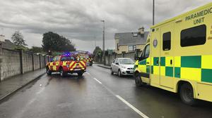 The scene of the accident on the John B Keane Road