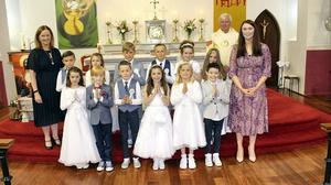 The Children from Castlegregory National School who received their First Holy Communion recently.