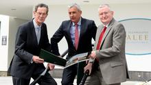 Dick Spring, Chairman of the IT, Tralee Foundation Board, Ogie Moran, Director of the IT, Tralee Foundation and Dr. Oliver Murphy, President of IT, Tralee