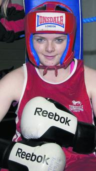 Castleisland boxer Saoirse Kelly who came top in the Girl 4 category at the Munster boxing championships.