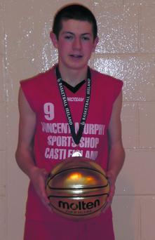 Adam Donoghue, St Mary's, who won the MVP award at the All-Ireland Basketball Championships