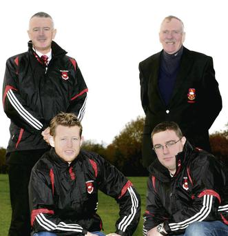 Club chairman Junior Finnegan (back right) with (from left) Liam Maguire, Pádraig Sheahan and Ger Moynihan.