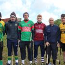 Aidan McCabe (Kilmoyley), Martin Stackpoole (Lixnaw), Shane Nolan, winner of the Senior Puc Fada (Crotta O'Neills), Steven Murphy (Causeway), JM Pierce (Ballyheigue) and James Lenihan (Dr Crokes) all participated in the Senior Pock Fada in the annual competition held in Kerryhead, Ballyheigue last Sunday