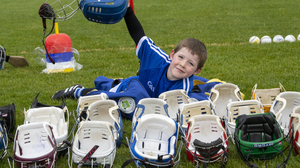 It was a hive of activity at the GAA grounds in Caherslee, Tralee as the younger hurling and camogie players from Tralee Parnells - including Kyle Lucid, pictured, returned to the pitch as children were allowed back to outdoor collective sport and activity after Covid-19 level 5 lockdown restrictions. Photo by Domnick Walsh