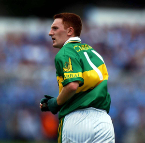 Noel Kennelly in action for Kerry against Dublin in Semple Stadium in 2001. Photo by Damien Eagers / Sportsfile