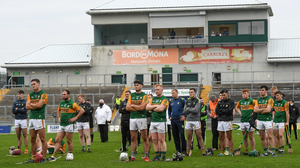 Kerry players after the Allianz Hurling League Division 2A Final match between Antrim and Kerry at Bord na Mona O'Connor Park in Tullamore, Offaly last year. Photo by Matt Browne / Sports