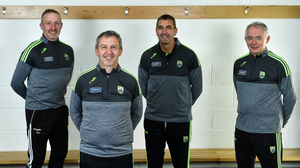 Kerry manager Peter Keane with selectors Tommy Griffin, Maurice Fitzgerald and James Foley. Photo by Brendan Moran / Sportsfile