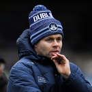 Dublin manager Dessie Farrell during the O'Byrne Cup semi-final against Longford at Glennon Brothers Pearse Park on January 11 last. Photo: Ray McManus/Sportsfile
