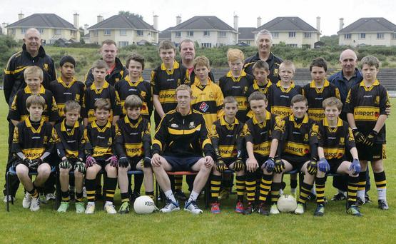 Colm Cooper with the Dr Crokes team who participated in the Cooper Invitational Blitz 2013 sponsored by the Coffey family at Dr Crokes GAA grounds, Lewis Road, Killarney on Saturday.