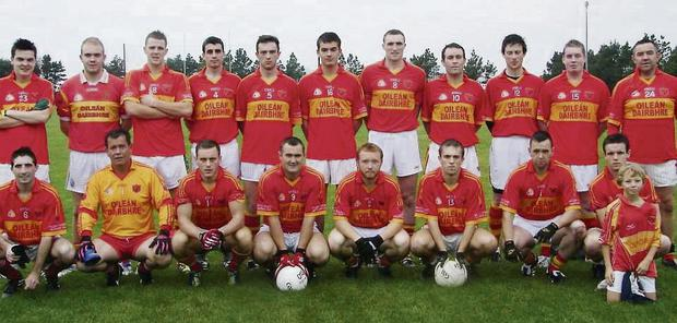 The Young Islanders. Back from left: Fionan Falvey, Sean Curtin, John Curran, John Lynch, Shane O'Connor, Paul Curtin, Brendan O'Sullivan, Stevie O'Connor, Brian O'Connor, Mark Lynch, John Daly. Front: Paul O'Sullivan, Richard Quigley, Paul O'Connor, Ger O'Shea, Colm Casey, Andy Quigley, John Shanahan, Aaron Quigley, Emmet Daly (mascot). Manager: John Daly. Selectors: Joe Lynch, Paul Currran.