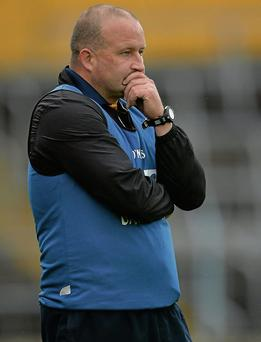 Kerry manager William O'Sullivan during the final moments of the game. TG4 All-Ireland Ladies Football Senior Championship, Semi-Final, Cork v Kerry, Semple Stadium, Thurles, Co. Tipperary. Photo: Brendan Moran / SPORTSFILE