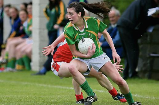 Kerry's Emma Sherwood in action against Cork in Dromcollogher on Sunday afternoon. Photo by Tom Russell