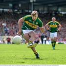 James O'Donoghue, Kerry, scores his side's second goal from a penalty.