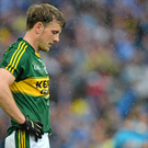A dejected Donnchadh Walsh, Kerry, after the final whistle