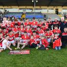 Dingle Minor team celebrate after defeating Mid Kerry in the Kerry County SuperValu Minor Championship at Fitzgerald Stadium, Killarney on Sunday