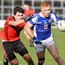 Templenoe's Teddy Doyle, in action here in the County Junior Football Final, will be a central player for the Kerry club when they face British champions John Mitchels in the All-Ireland Club JFC semi-final in Birmingham on Sunday