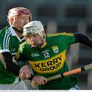 Shane Nolan, Kerry, in action against Paudie O'Brien, Limerick. Photo by Diarmuid Greene/Sportsfile