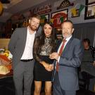 Clodagh Walsh from Kilmoyley and a member of the St Anne's minor camogie team, who received her medal from Kilkenny hurler Richie Power and former GAA President Sean Kelly at a function in McHale's Bar, Causeway at the weekend