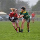 Ciara Murphy, Kerry, and Aisling Leonard, Cork, in action during Sunday's game