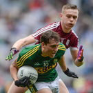 Dara Moynihan of Kerry in action against Sean Raftery of Galway