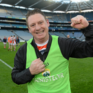 Jimmy Keane celebrates after the final whistle of the 2015 All Ireland Junior Club Championship final in Croke Park. Photo by Oliver McVeigh/Sportsfile