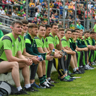 Kerry players watch the final between Kerry and Cork at Fitzgerald Stadium, Killarney